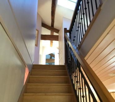 gite de la motte angles escalier