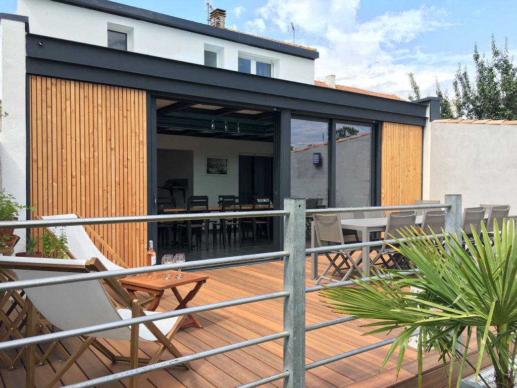 villa amiral laiguillon sur mer terrasse bois