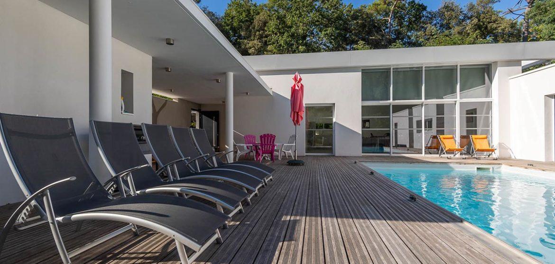 location villa b avec piscine longeville-sur-mer