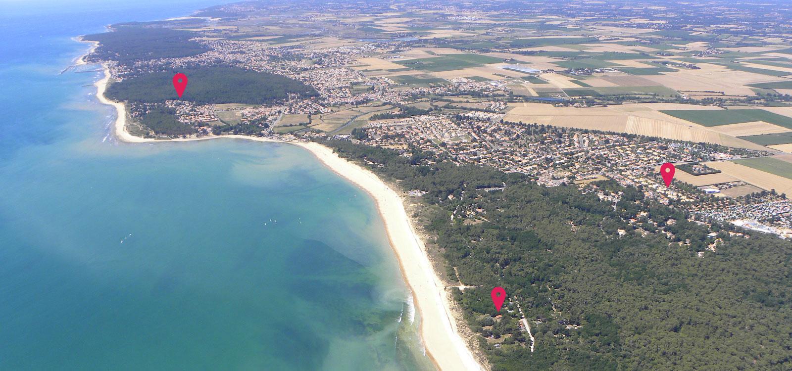 location gite proche plages vendee