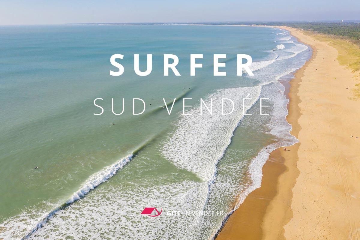 gite pres spots de surf vendee