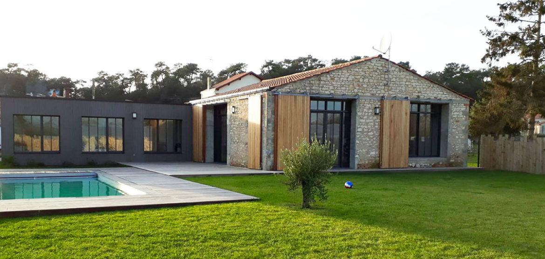 location maison contemporaine avec piscine longeville-sur-mer